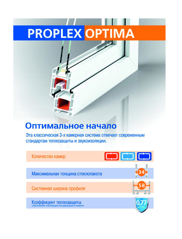 Окна PROPLEX-OPTIMA