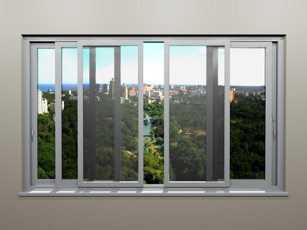 Сдвижные противомоскитные сетки на раздвижные балконные рамы.